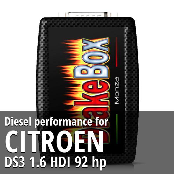 Diesel performance Citroen DS3 1.6 HDI 92 hp