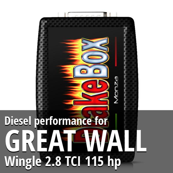 Diesel performance Great Wall Wingle 2.8 TCI 115 hp