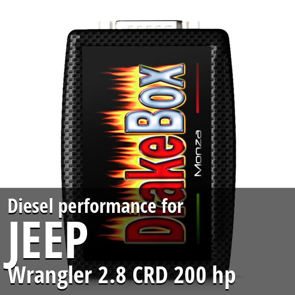 Diesel performance Jeep Wrangler 2.8 CRD 200 hp