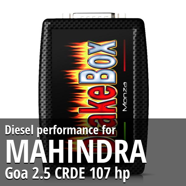 Diesel performance Mahindra Goa 2.5 CRDE 107 hp
