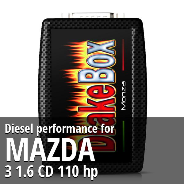 Diesel performance Mazda 3 1.6 CD 110 hp