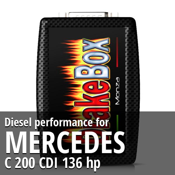 Diesel performance Mercedes C 200 CDI 136 hp